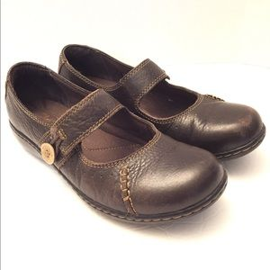 Clarks Shoes Mary Jane Brown Leather Bendables